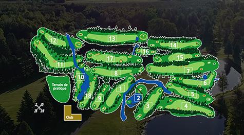 Le parcours du club Golf Ste Flore